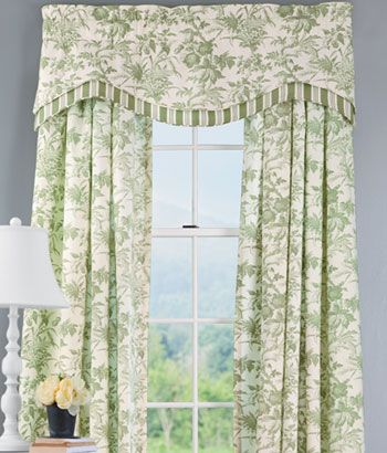 Clara Floral Layered Lined Scalloped Valance drapes Pinterest - cortinas para ventanas