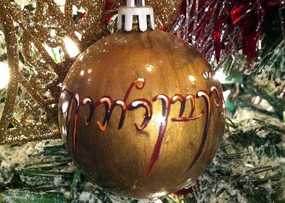 Lord Of The Rings Christmas Ornaments.Lord Of The Rings Christmas Elivish Ornament Holiday By