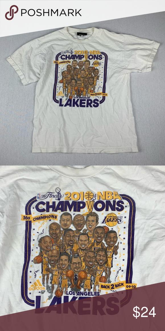 Vintage La Lakers 2010 Nba Champions T Shirt Nba Champions Shirts Nba