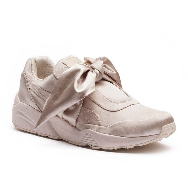 31f190ee77d8 Fenty Puma x Rihanna Women s Satin Bow Sneakers (€160) ❤ liked on Polyvore  featuring shoes