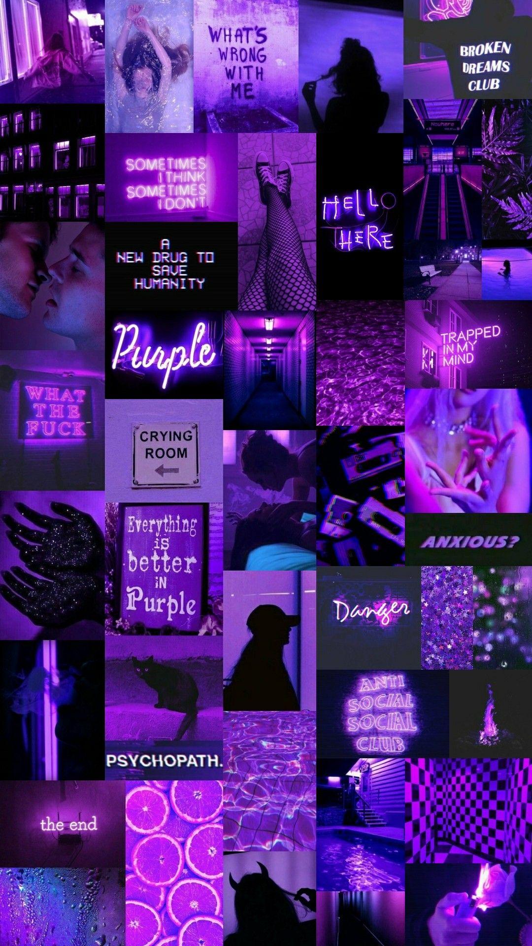 Dark Purple Aesthetic Collage