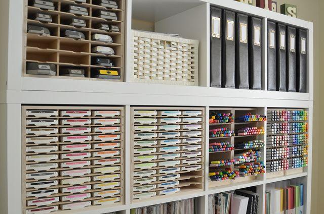 paper craft storage in ikea shelving netjes pinterest. Black Bedroom Furniture Sets. Home Design Ideas