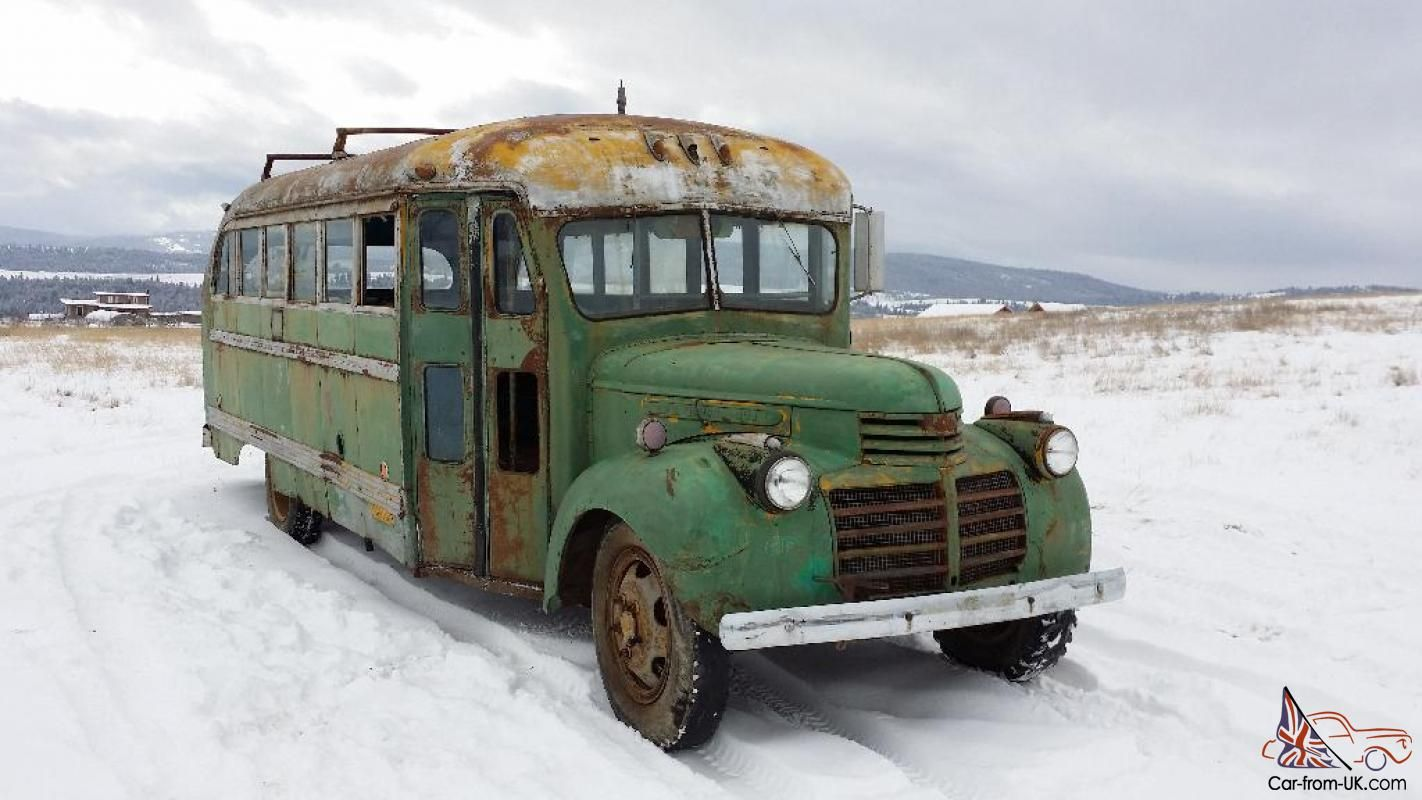 1941 Gmc Classic Short School Bus Survivor Hot Rat Rod Kustom Sled Project Rat Rod School Bus Gmc