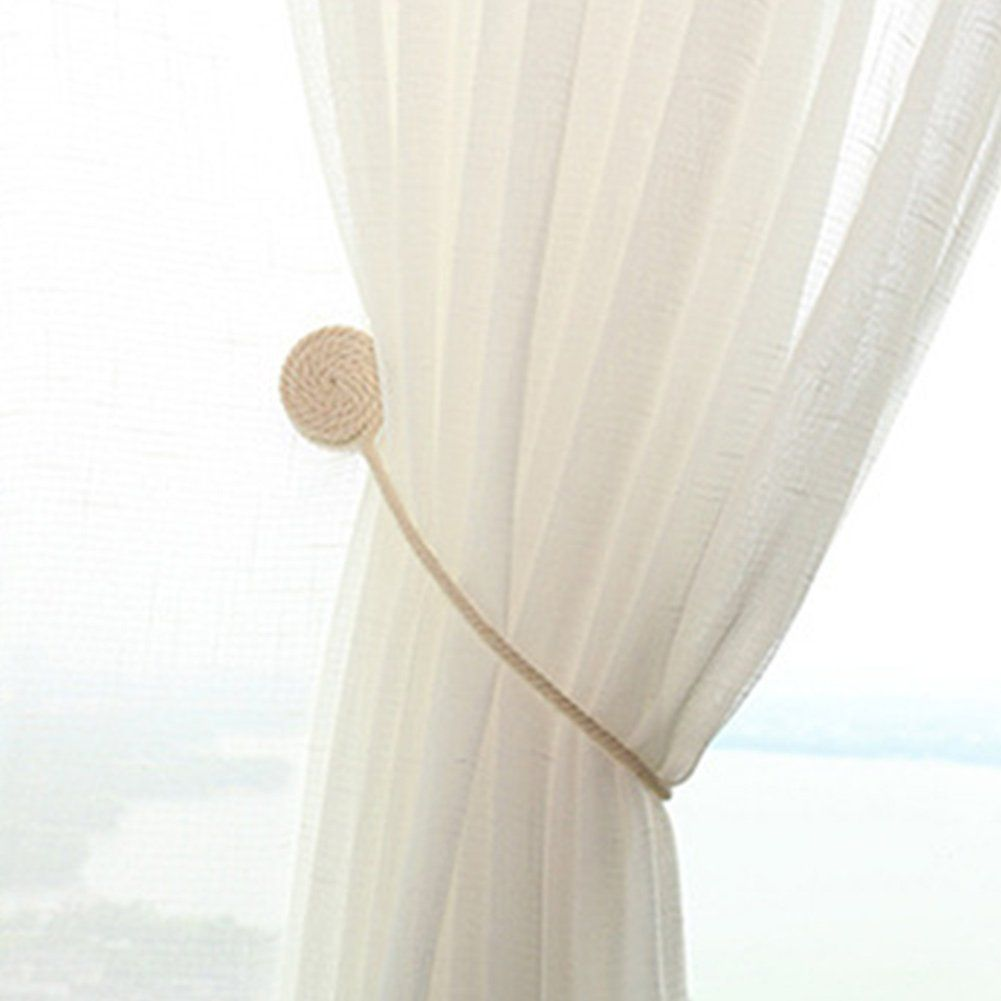 Ragdoll50 Curtain Tiebacks 2pcs Magnetic Curtain Tiebacks Curtain