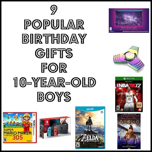 9 Popular Birthday Gifts For 10 Year Old Boys From Video Games To Fidget Toys Books