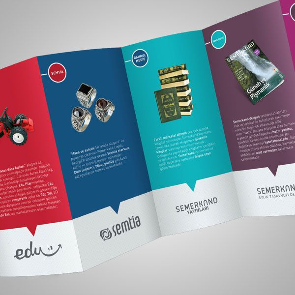 Beautiful Deca Fold Brochure Design   Simple Yet Beautiful