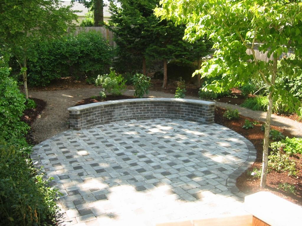 backyard patio and path ideas gravel patio garden designs pictures - Garden Design Gravel Patio