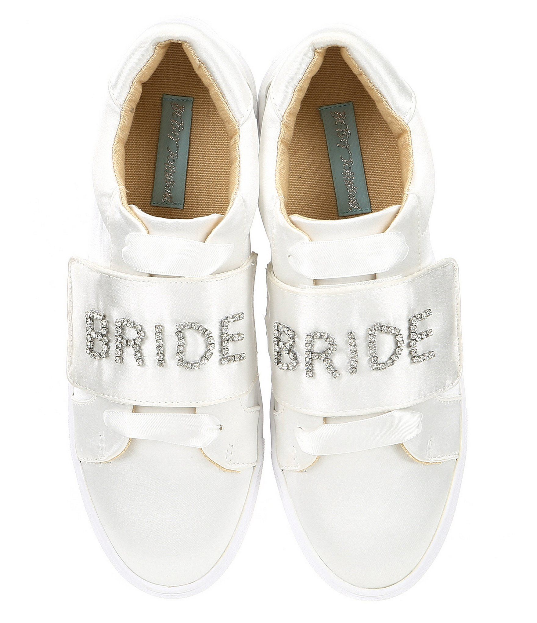 a09a91fd915d8b Blue by Betsey Johnson Liana Satin Jeweled Bride Sneakers  Dillards ...