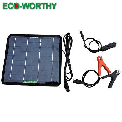 12v 5w Portable Solar Panel Power Battery Charger Backup For Car Boat Automobile Portable Solar Panels Solar Panels Solar
