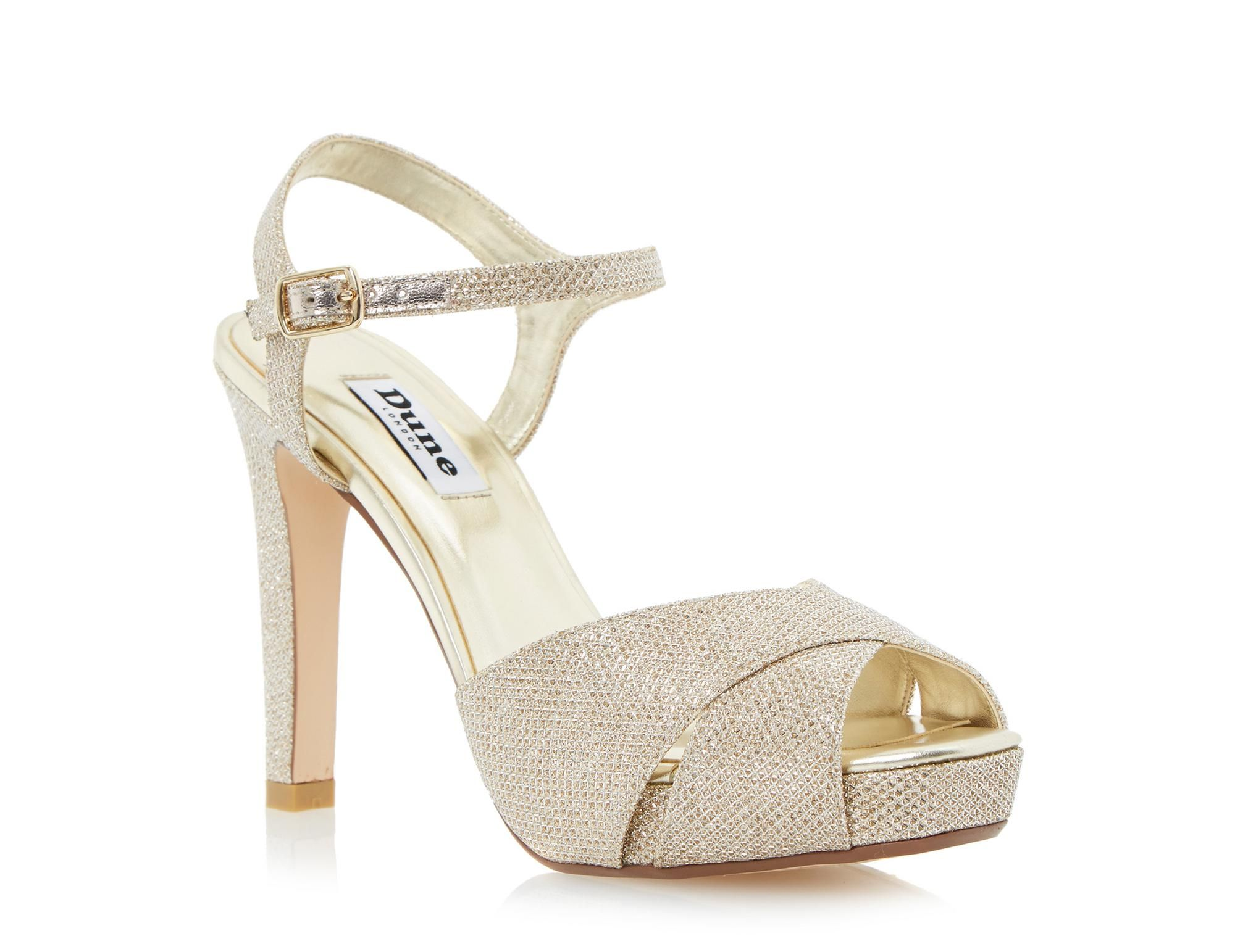 df812745e1d7 DUNE LADIES MARLEEN - Crossover Strap High Heel Sandal - gold