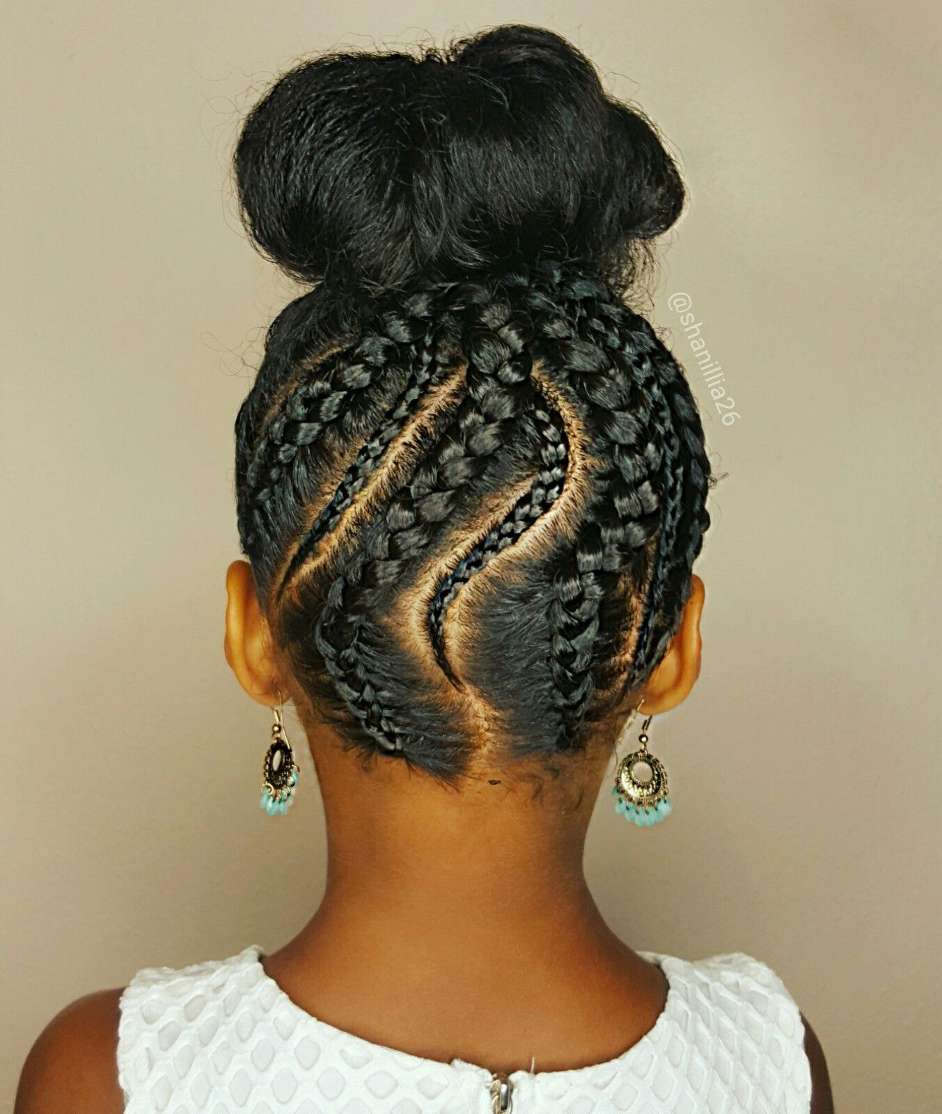 Braided Updo Natural Hairstyles For Kids Natural Hairstyles For Kids Natural Hair Styles Kids Hairstyles