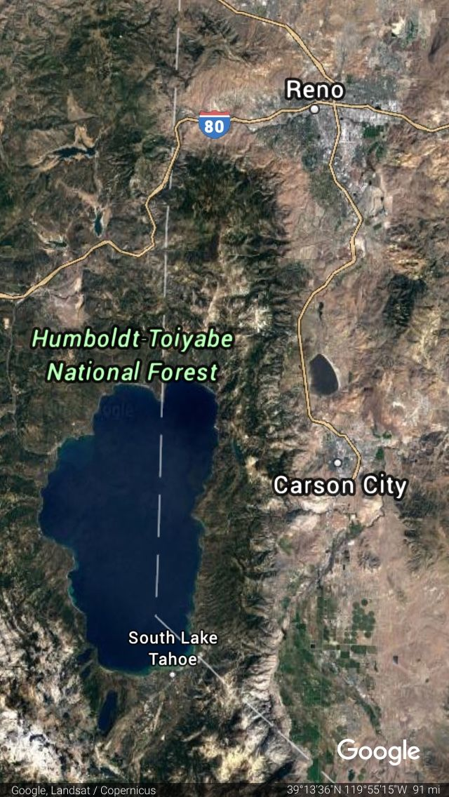 Lake Tahoe Google Satellite Images South Lake Tahoe Park Falls