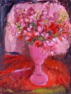 Pink Flowers by Anne Redpath