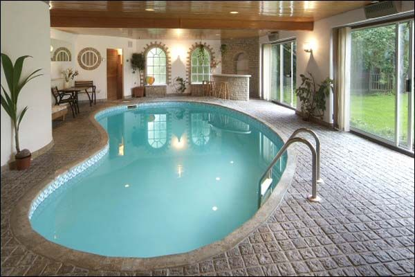 Indoor Swimming Pool Design Idea For Private Residence Peanut