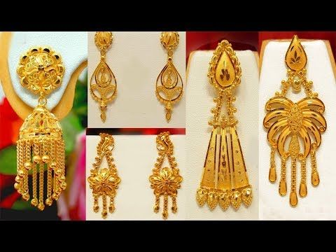 1419fcb27 Latest Light Weight gold earrings designs with weight | Today Fashion -  YouTube