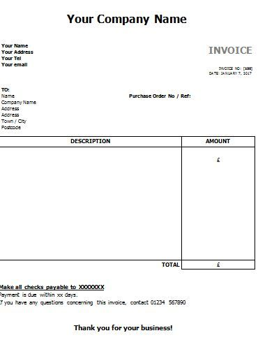 sales invoice , 13 Invoice Template for Easier Use , Free templates - invoice models