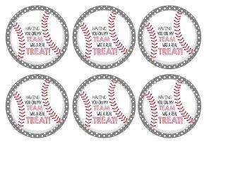 Baseball Party Rice Krispies Treats Cal Ripken Jr And Some Free Printable Tags Mimi S Dollhouse Free Printable Tags Baseball Printables Baseball Snacks