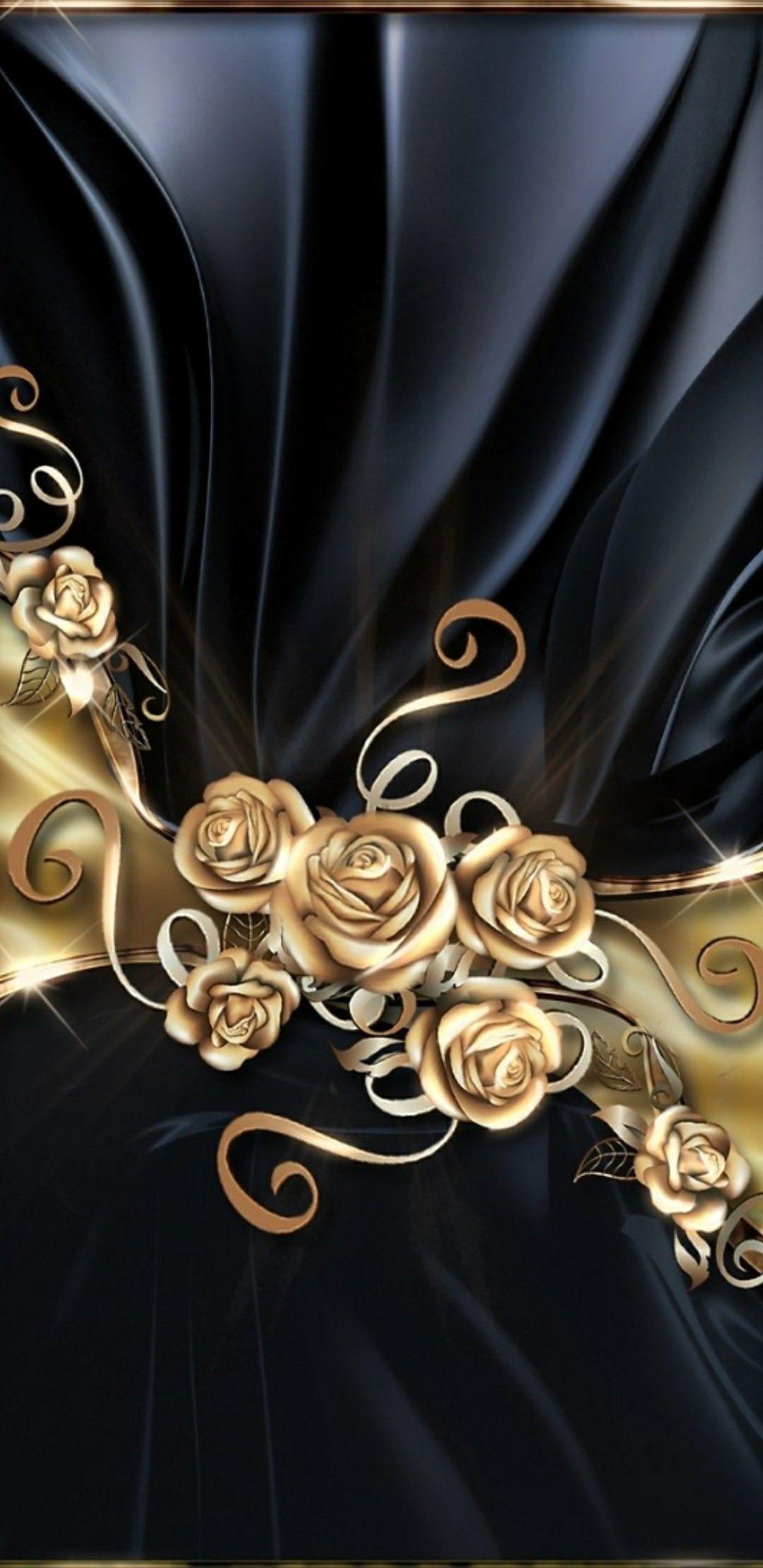 Black And Gold Black Cellphonewallpapergold Gold Phone Wallpaper Patterns Gold Wallpaper Bling Wallpaper