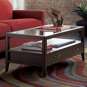 crate and barrel view coffee table | home decor | pinterest