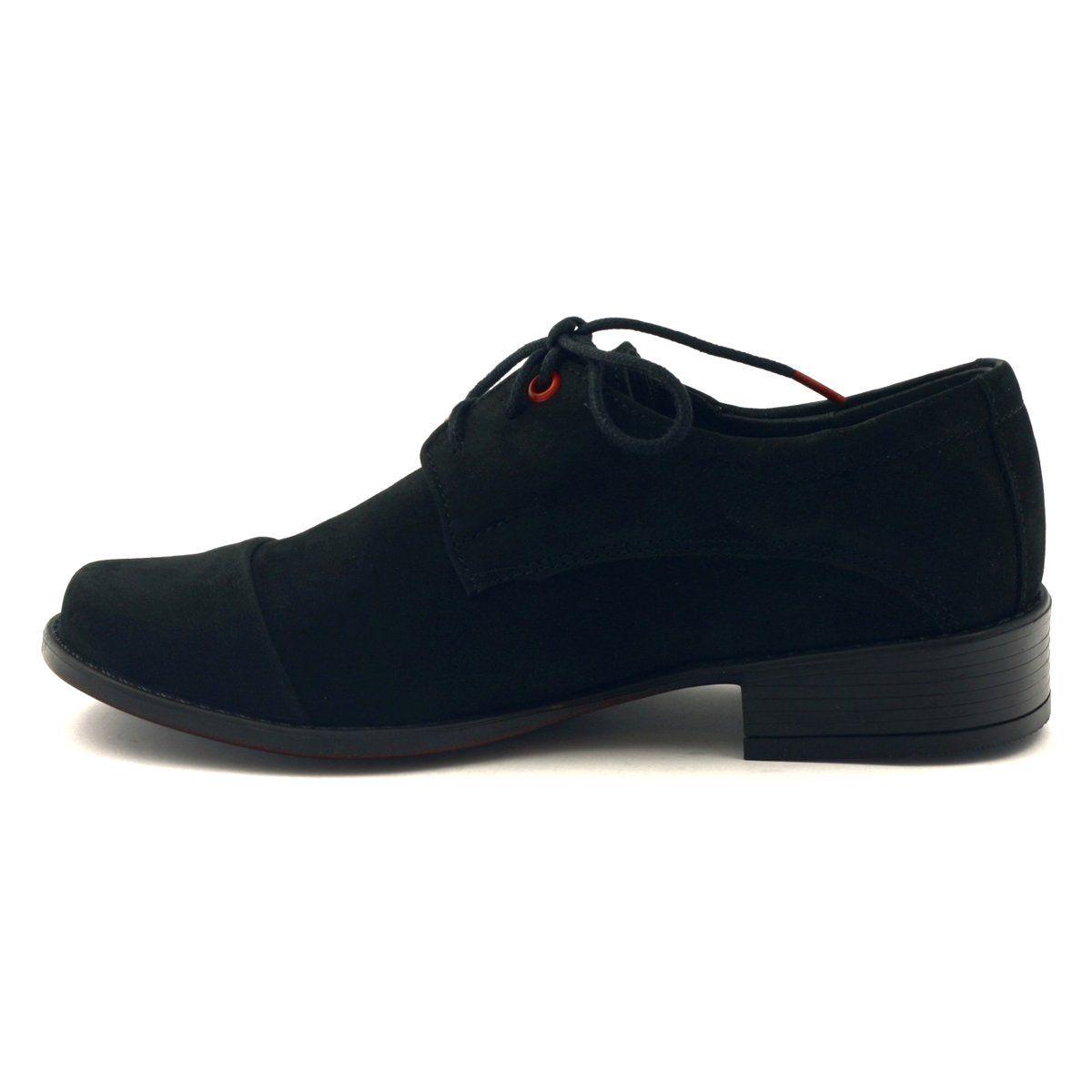 Zarro Czarne Polbuty Komunijne Skora Zamszowa Shoes Sneakers Fashion