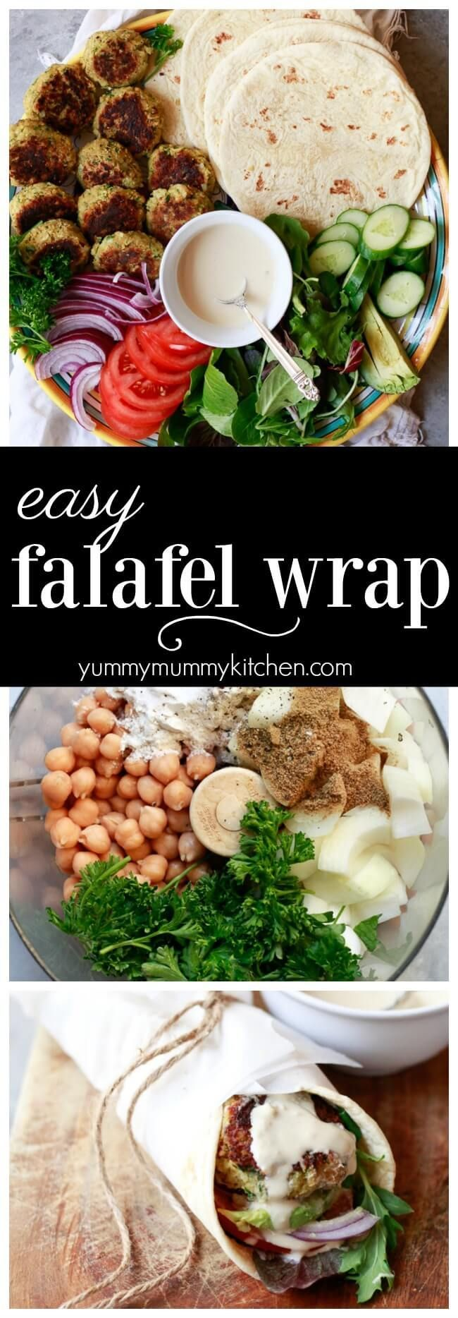 Easy Falafel Wrap Recipe with Tahini Sauce