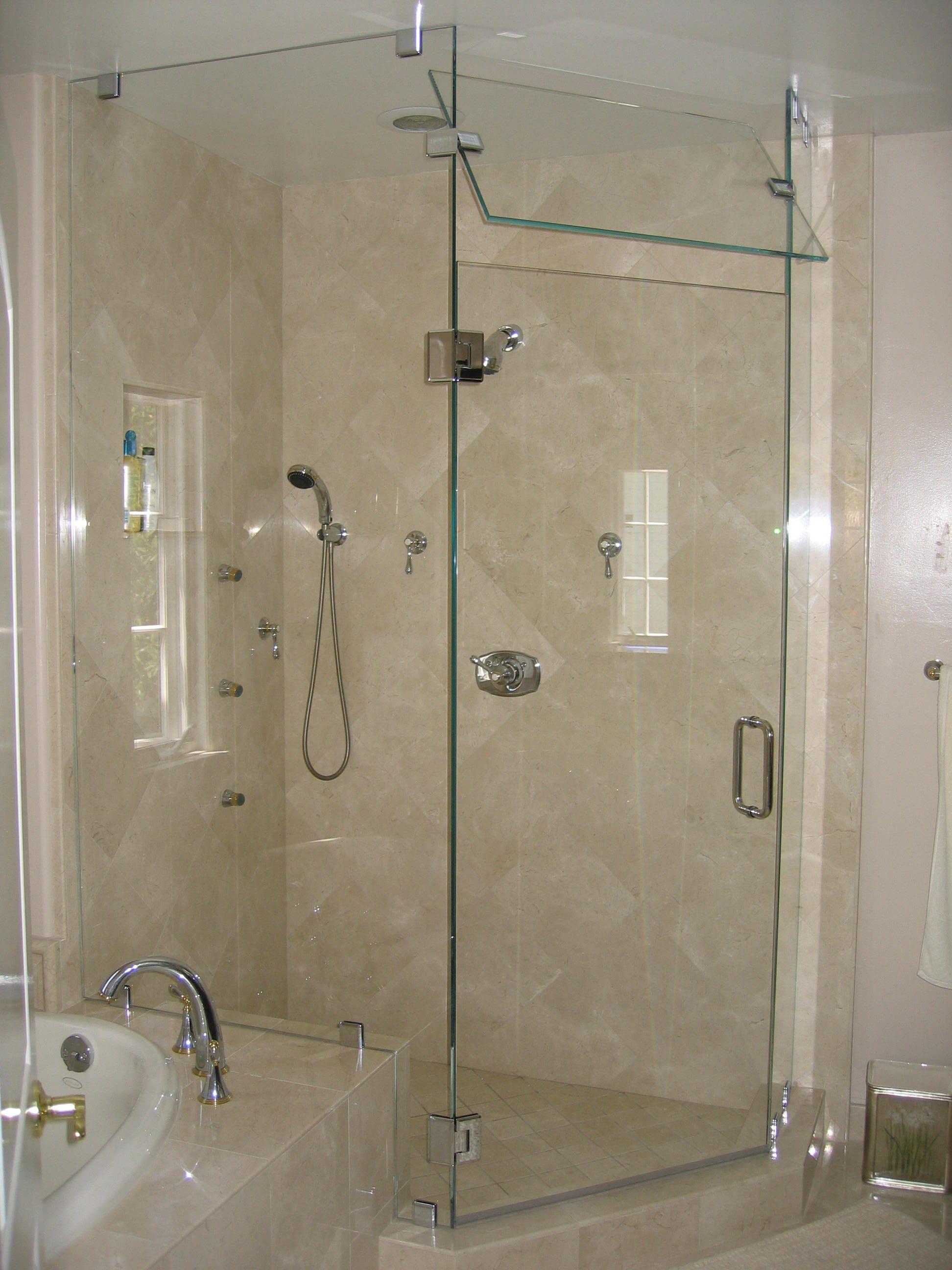 Captiveting Details Shower Glass Panel Desaign For Modern Bathroom With Nice Bathub Color Glass Shower Doors Corner Shower Doors Glass Shower Enclosures