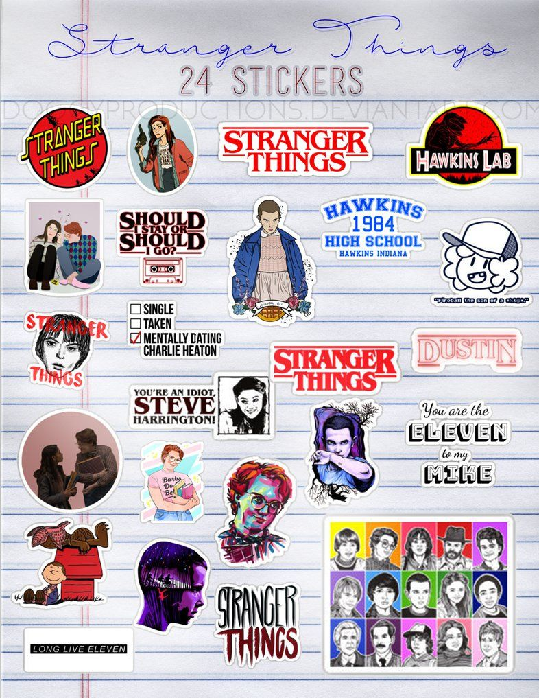 Stranger Things Stickers Png Pack 01 By Https Www Deviantart Com Doggyproductions Stranger Things Sticker Stranger Things Phone Case Stranger Things Fanart