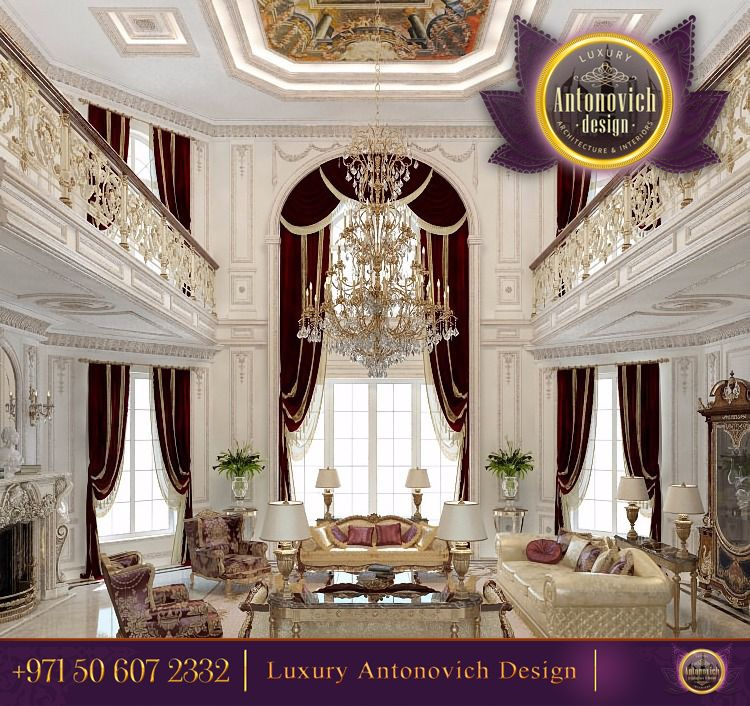 Luxury Interior Design Living Room ~ Antonovich Design.ae