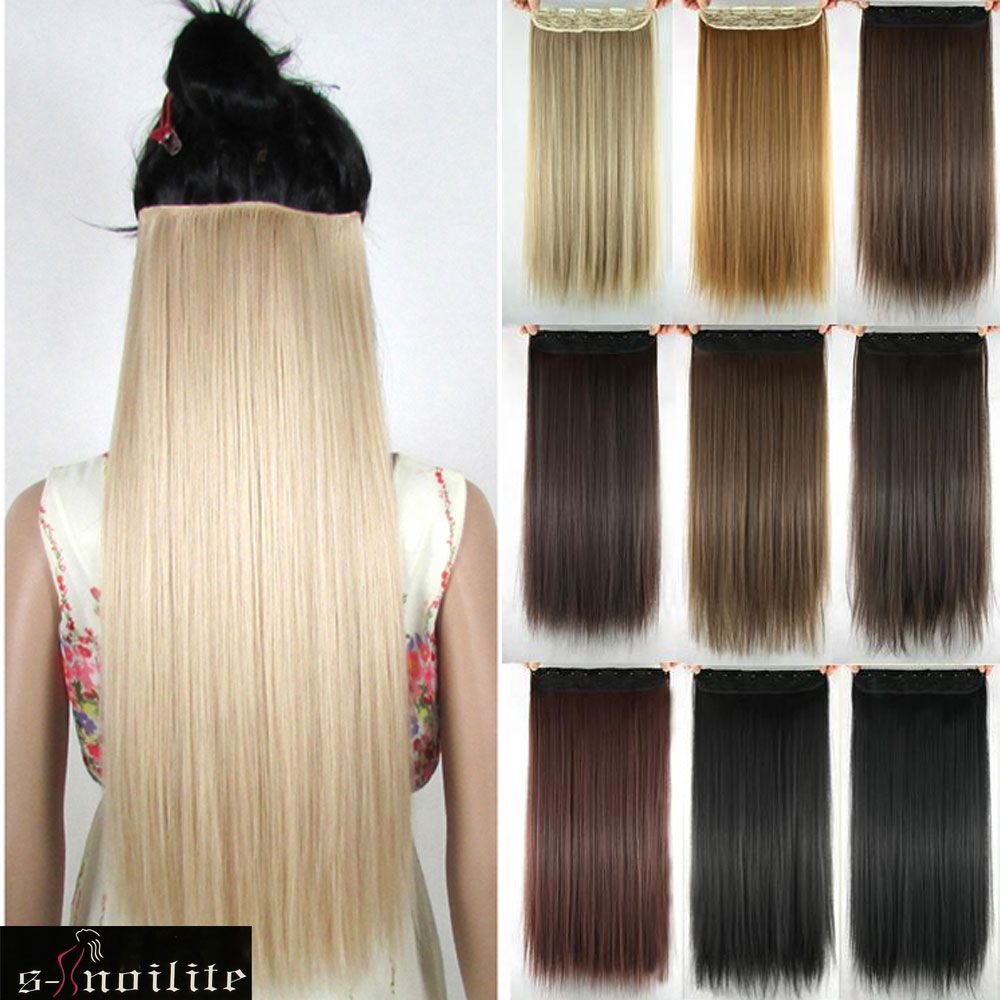 Long Clip In Hair Extensions One Piece 26 Inches 66cm Straight
