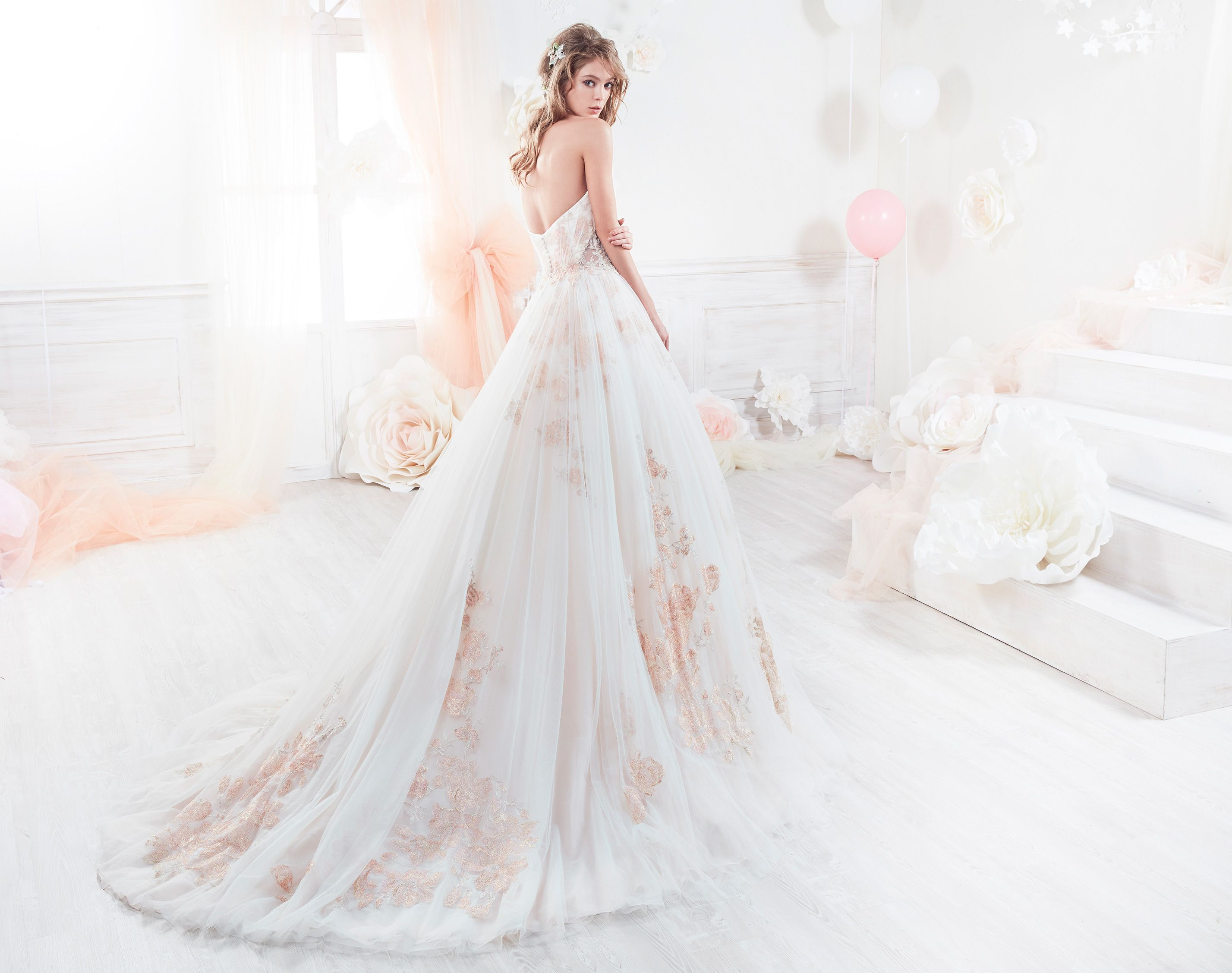 Nicole Beautiful Princess Gown In Tulle, Enriched With