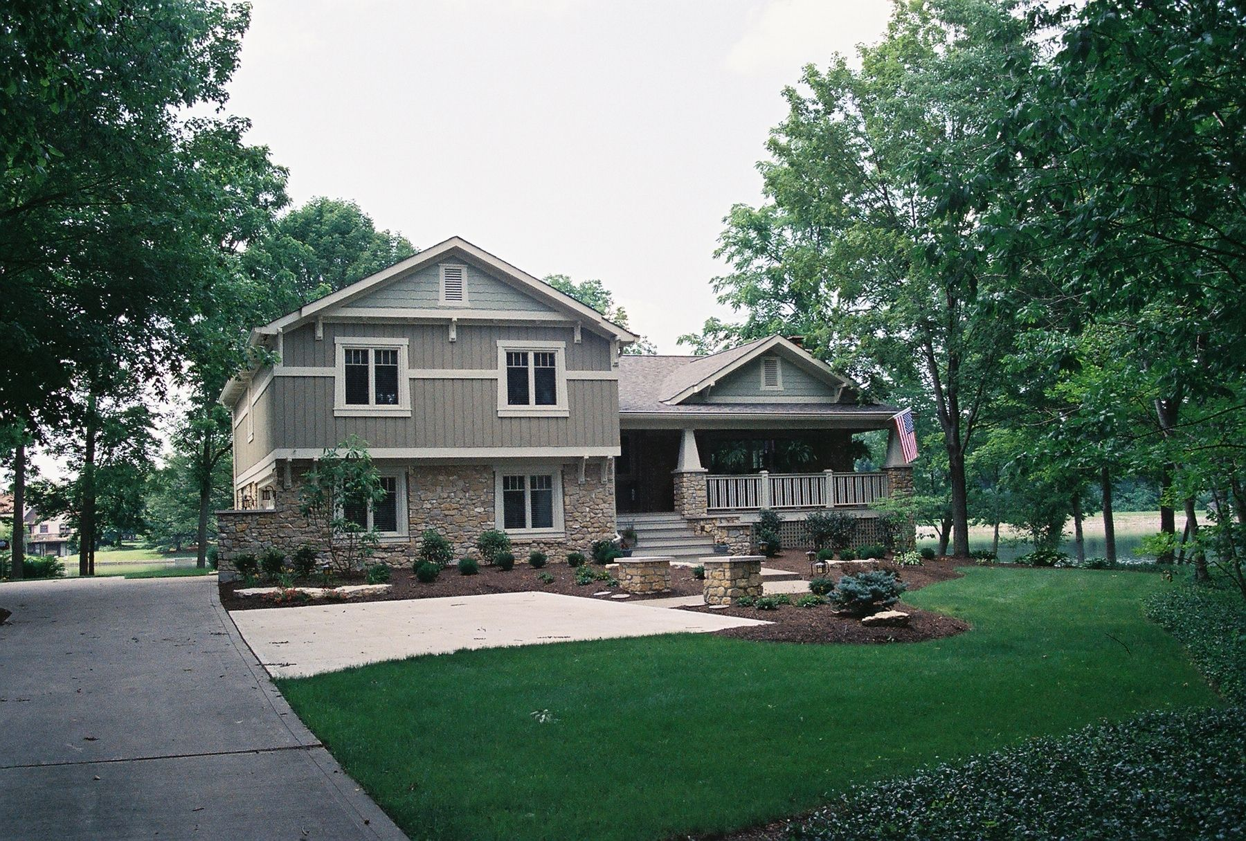 Split level addition and remodel carmel indiana for Exterior home redesign