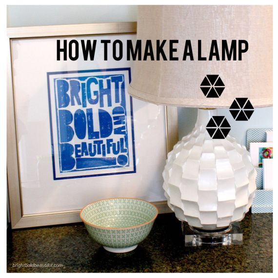 How To Make A Lamp From A Vase Blogger Home Projects We Love By