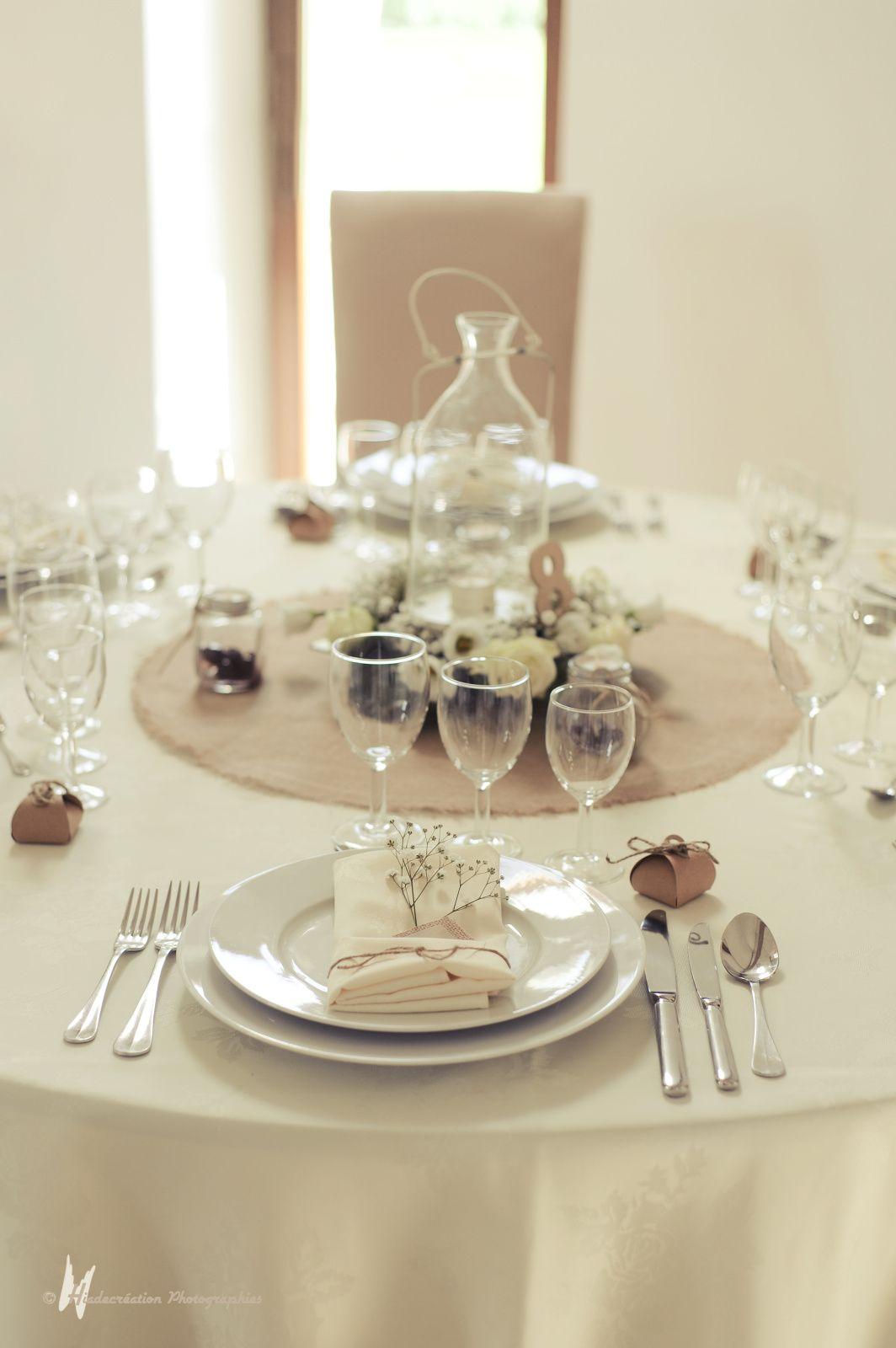 La décoration d'une table ronde par Cyane Event design
