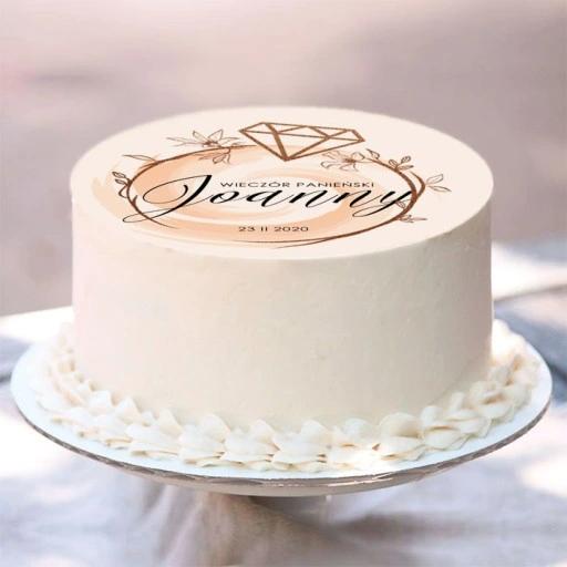 Oplatek Na Tort Personaliz Powiedzialam Tak O20cm 9530703521 Oficjalne Archiwum Allegro Place Card Holders Birthday Cake Cake