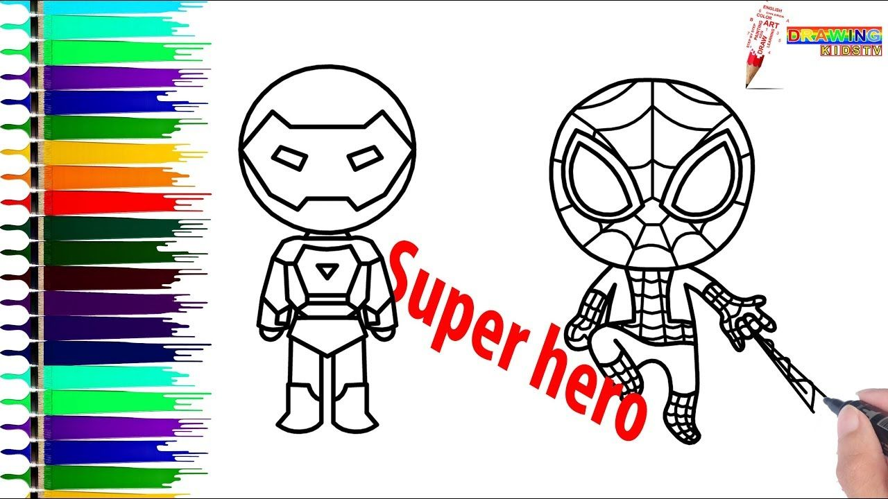 how to draw spiderman web