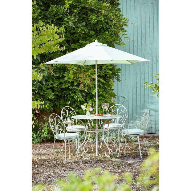 Argos Metal Garden Table And Chairs: Buy Argos Home Jasmine 4 Seater Metal Patio Set