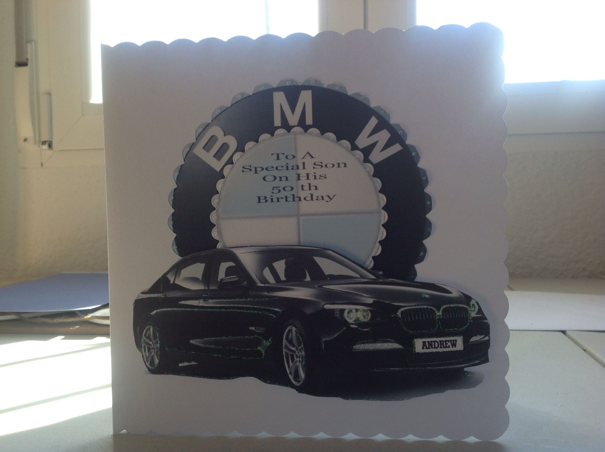 Sons 50 Th Birthday Card Surprise He Is A Bmw Man