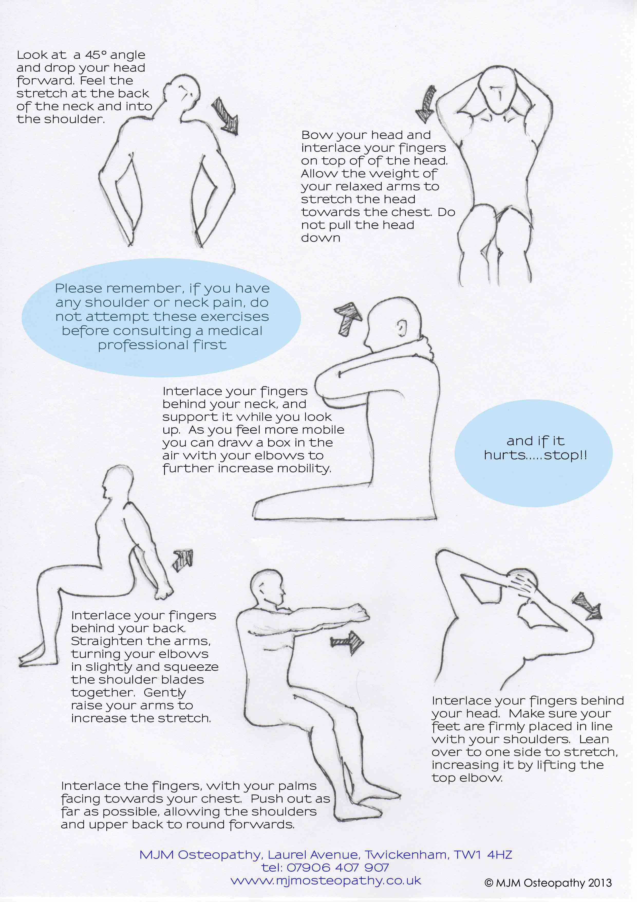 STRETCHING EXERCISES FOR THE NECK!...Remember...If you ...