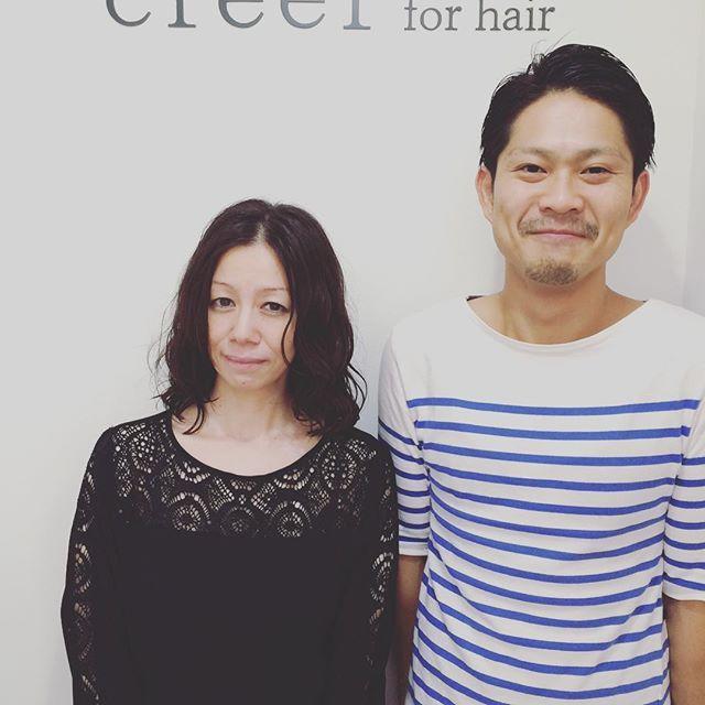 """""""本日のお客様  かれこれ6年くらいお世話になっているお客様です。 今日はロングからミディアムにバッサリカットさせていただきました。  いつもご来店ありがとうございます! #美容室 #creer_for_hair"""" Photo taken by @creer_for_hair on Instagram, pinned via the InstaPin iOS App! http://www.instapinapp.com (09/08/2015)"""