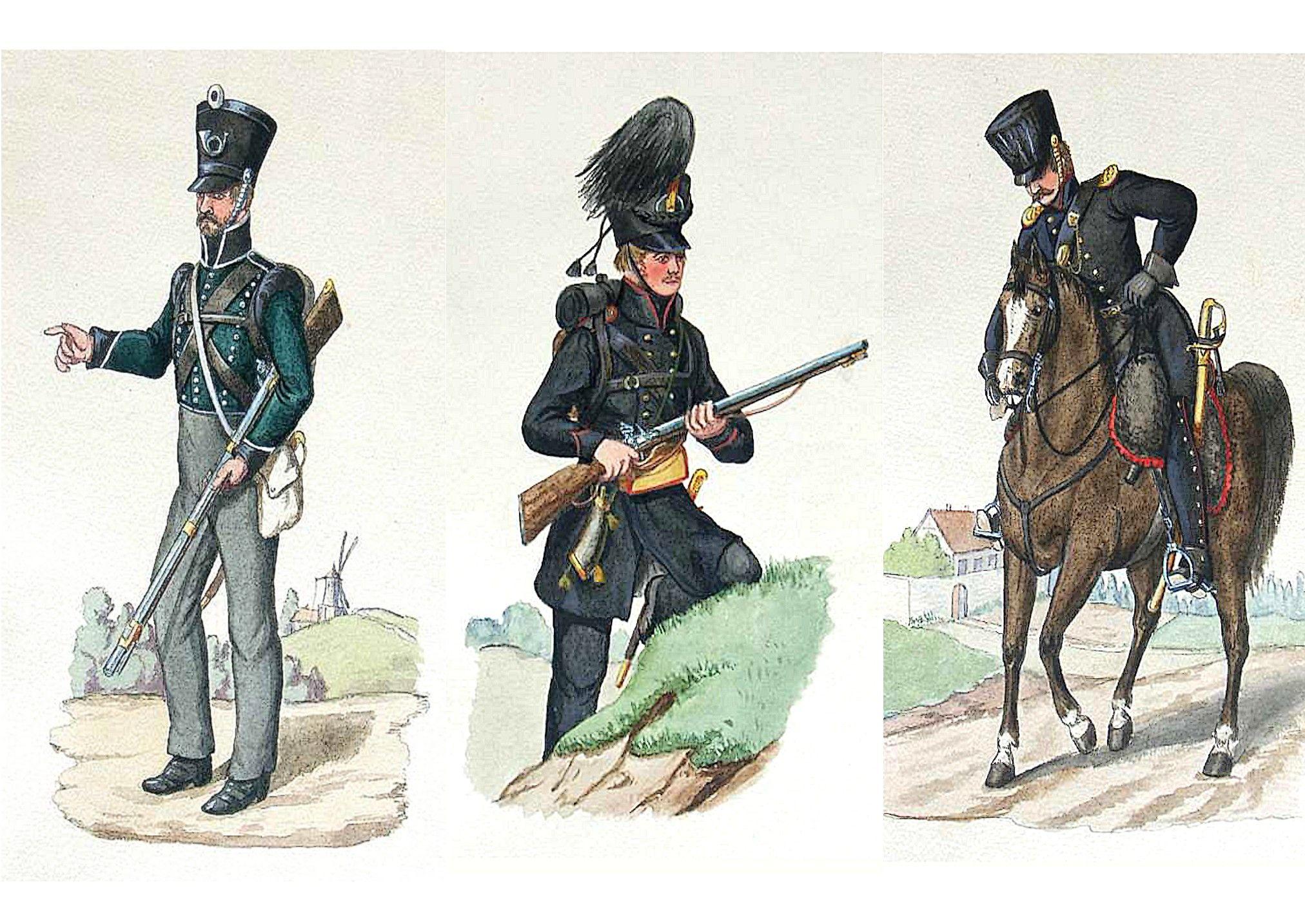 von Hellwig-sches Freikorps- errichtet im April 1813-Jager vom Lutzow-schen Freikorps 1813-1815-Reitender Jäger vom Lützow'schen Freikorps
