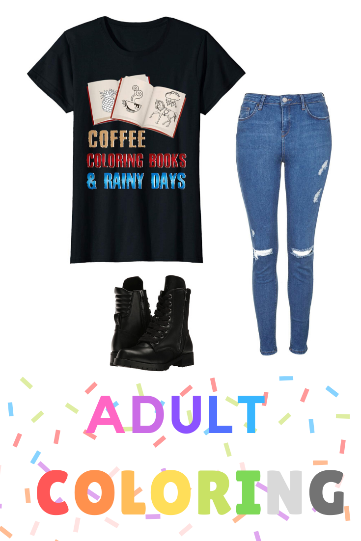 Adults Color Gift Shirt Coffee Coloring Book & Rainy Days T-Shirt  #stockingstuffersforadults Do you know someone who is addicted to adult coloring? If so, look no further than this cute Coffee Coloring Book & Rainy days Tee Shirt. T-shirt makes a cool stocking stuffer for Christmas, Hanukkah, Birthday or Graduation gifts. If you love to color books or pages then this tshirt is for you. This t shirt is so cool to wear when cozy up to coloring your next page or book today. #AdultColoring #Colorin #stockingstuffersforadults