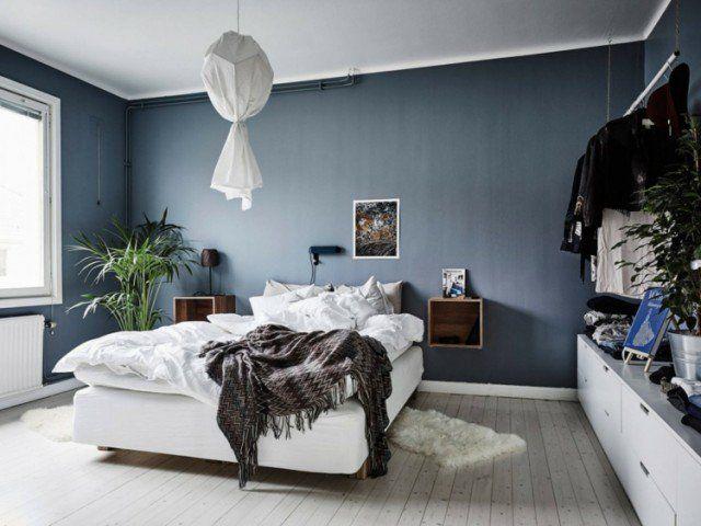 Peinture bleu gris à l\u0027intérieur- le bleu pigeon et le bleu ardoise