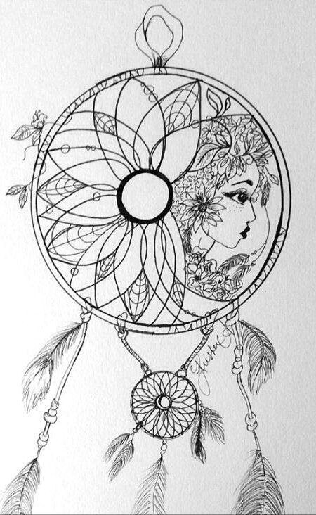 dreamcatcher mandala coloring pages | Dreamcatcher | DREAMCATCHERS | Pinterest | Dream catchers ...
