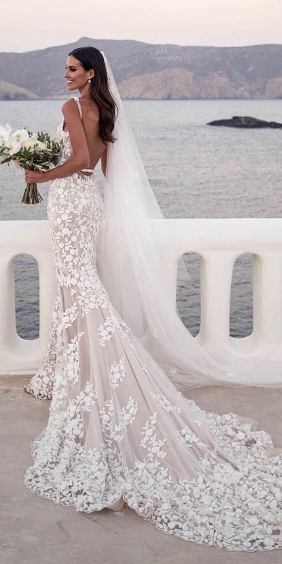 The Most Popular Pinterest Wedding Dress Searches In Each Country Lace Wedding Dress With Sleeves Wedding Dress Guide Wedding Dresses With Straps