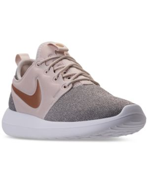 sports shoes 671dc a73a8 Nike Women s Roshe Two Knit Casual Sneakers from Finish Line - White 7.5
