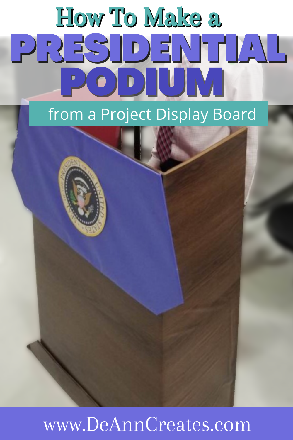 How To Make A Presidential Podium In 2021 Kids Crafts Ornaments Cardboard Crafts Kids Kids Craft Christmas Cards