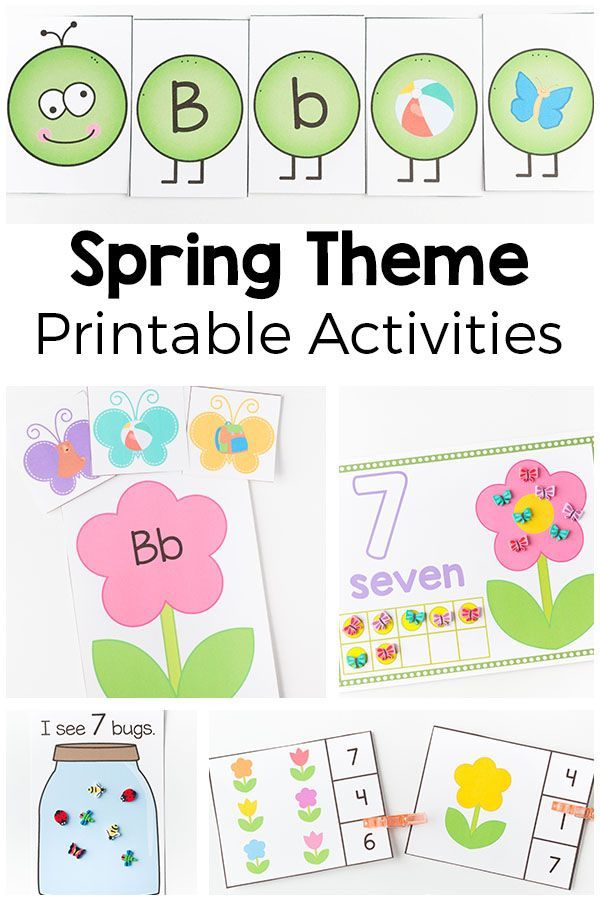 It is an image of Juicy Spring Printable Activities