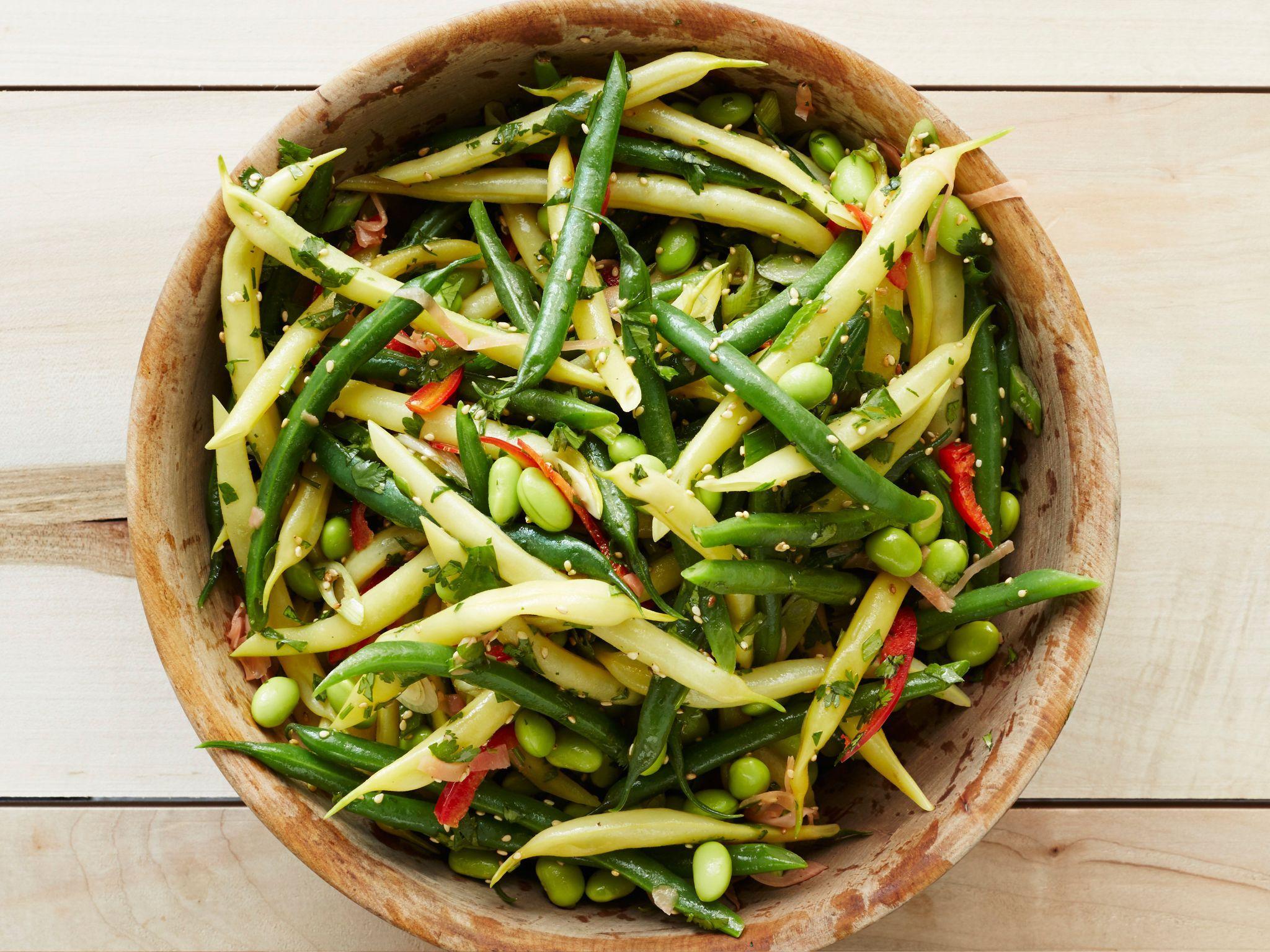 Asian Three Bean Salad Recipe Bean Salad Three Bean Salad Food Network Recipes