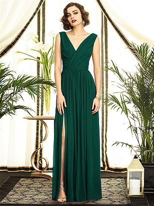 Dessy Collection Style 2894 The Group Emerald Green Formal Dress Bridesmaid