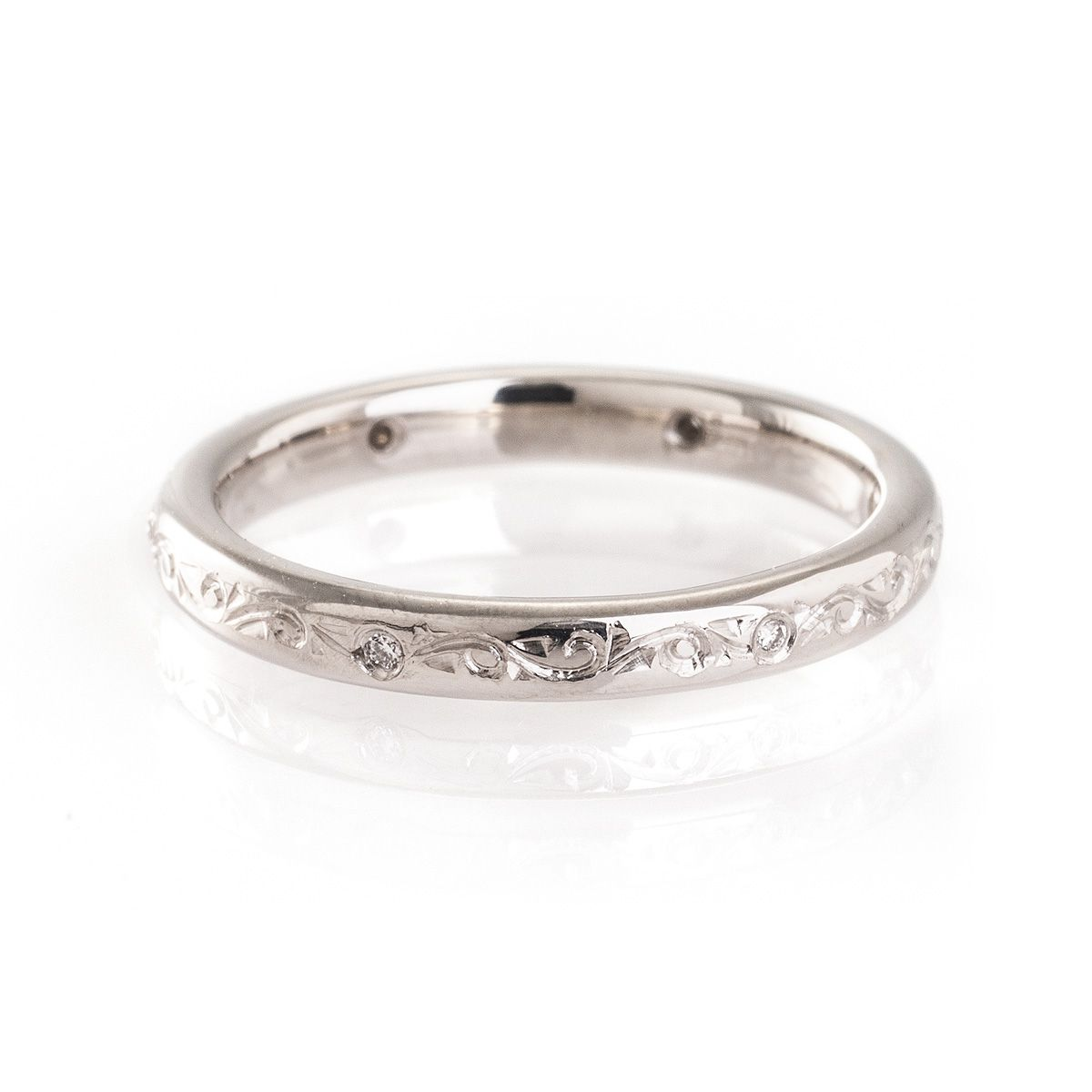 band art engraved wedding vintage ring bands platinum deco
